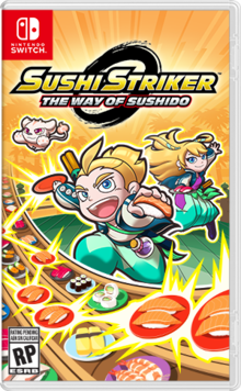 Box art for the game  Sushi Striker: The Way of Sushido