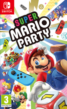 Box art for the game Super Mario Party