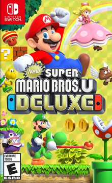Box art for the game New Super Mario Bros. U Deluxe