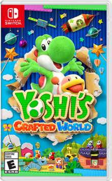 Box art for the game Yoshi's Crafted World