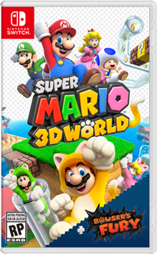 Box art for the game Super Mario 3D World + Bowser's Fury
