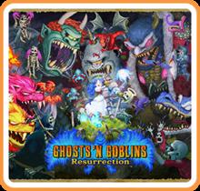 Box art for the game Ghost 'n Goblins Resurrection