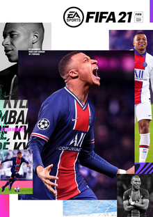 Box art for the game FIFA 21