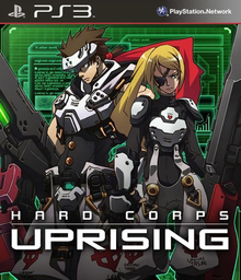Box art for the game Hard Corps: Uprising