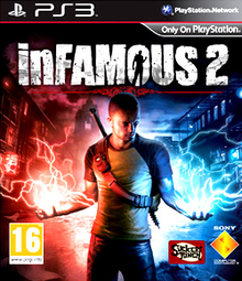 Box art for the game Infamous 2