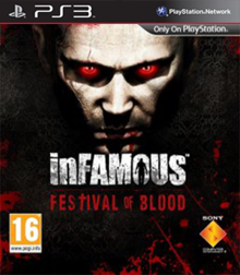 Box art for the game Infamous: Festival of Blood