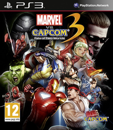Box art for the game Marvel Vs. Capcom 3: Fate of Two Worlds