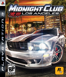 Box art for the game Midnight Club: Los Angeles