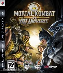 Box art for the game Mortal Kombat vs. DC Universe