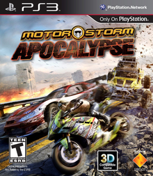 Box art for the game MotorStorm Apocalypse