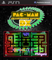 Box art for the game Pac-Man Championship Edition DX