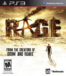 Box art for the game Rage