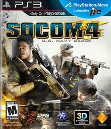 Box art for the game SOCOM 4: U.S. Navy SEALs