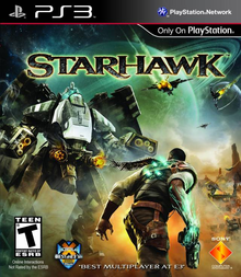 Box art for the game Starhawk