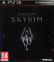Box art for the game The Elder Scrolls V: Skyrim