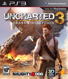 Capa do jogo Uncharted 3: Drake's Deception