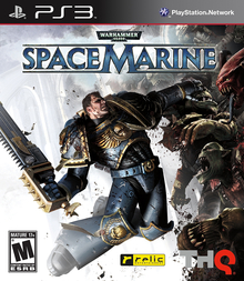 Box art for the game Warhammer 40,000: Space Marine