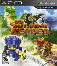 Box art for the game 3D Dot Game Heroes