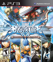Box art for the game BlazBlue: Continuum Shift