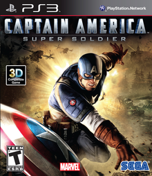 Box art for the game Captain America: Super Soldier