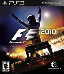 Box art for the game F1 2010