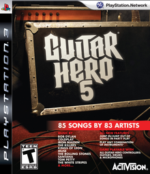 Box art for the game Guitar Hero 5