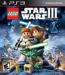 Box art for the game LEGO Star Wars III: The Clone Wars