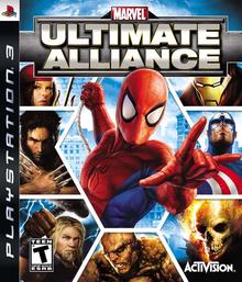 Box art for the game Marvel: Ultimate Alliance