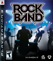 Box art for the game Rock Band