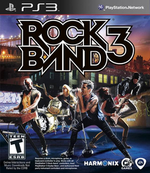 Box art for the game Rock Band 3