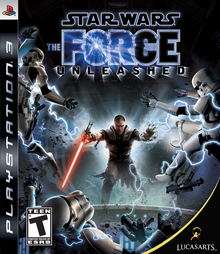 Box art for the game Star Wars: The Force Unleashed