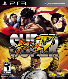 Box art for the game Super Street Fighter IV