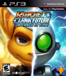 Box art for the game Ratchet & Clank Future: A Crack in Time