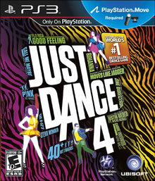 Box art for the game Just Dance 4