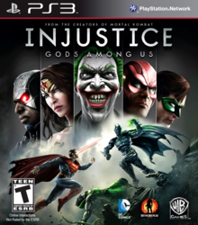 Box art for the game Injustice: Gods Among Us