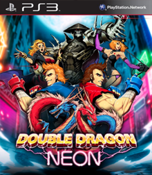 Box art for the game Double Dragon: Neon