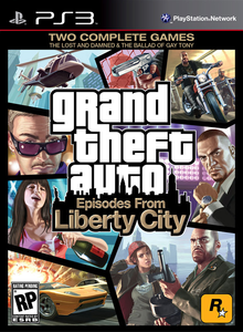 Box art for the game Grand Theft Auto: Episodes from Liberty City