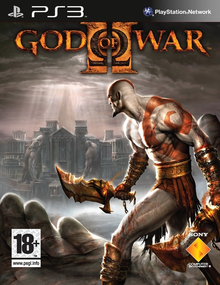 Box art for the game God of War II