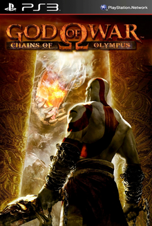 Box art for the game God of War: Chains of Olympus