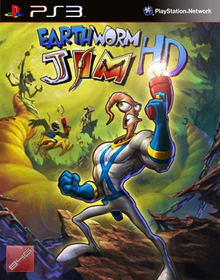 Box art for the game Earthworm Jim HD