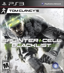 Box art for the game Tom Clancy's Splinter Cell: Blacklist