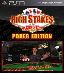 Box art for the game High Stakes on the Vegas Strip: Poker Edition