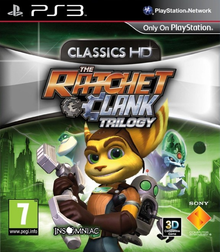 Box art for the game Ratchet & Clank: Up Your Arsenal HD