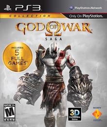 Box art for the game God of War Saga