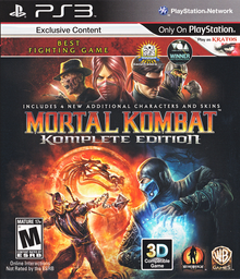 Box art for the game  Mortal Kombat: Komplete Edition