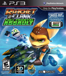 Box art for the game Ratchet & Clank: Full Frontal Assault