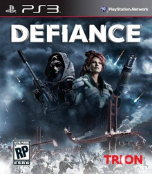 Box art for the game Defiance