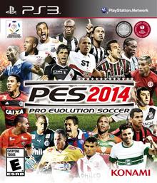 Box art for the game Pro Evolution Soccer 2014