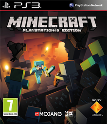 Box art for the game Minecraft: PlayStation 3 Edition