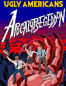 Box art for the game Ugly Americans: Apocalypsegeddon